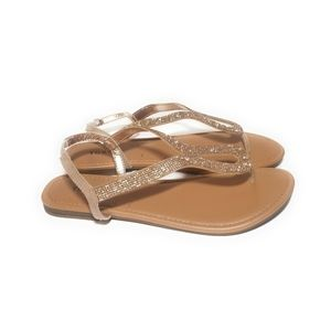 TORRID New Womens Rose Gold Sparkly Sandals 11 W